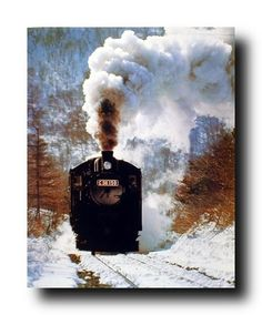 This Claude Monet Steam train in the snow wall decor art print poster reveals Monet's attraction to the convergence of nature and technology. Claude Oscar Monet was a famous French landscapist and he was the French impressionist painting. This poster captures the image of train running in a speed and the smoke it expelled into the atmosphere is sure to grab lot of attention. It would be a great addition for your home, museum and office. It goes well with any décor pattern.
