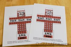 Minecraft TNT Box Valentines – Free Printable