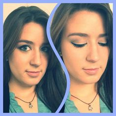 #motd nude and chique. Signature colour: blue! #makeup #makeupoftheday