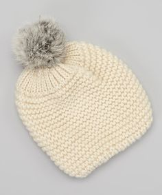 Take a look at this Sweet Charlotte Ivory Crocheted Pom-Pom Beanie on zulily today!