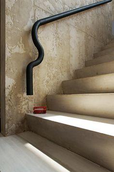 revestimento parede escada