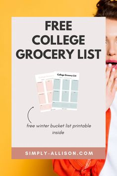 Need a college grocery list on a budget. Here is a healthy and cheap college grocery list that is perfect for a student on a budget or need to be organized.#collegegrocerylist #collegegrocerylistonabudget #healthycollegegrocerylist College Dorm Food, College Grocery List, College Meals, College Fun, Grocery Lists, Easy Meals For One, Cheap Easy Meals, Healthy College Snacks, Cooking A Roast