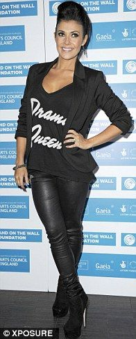 It's her favourite: Kym Marsh wears black at the Band On The Wall Foundation launch