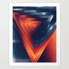 Triangled Art Print by DuckyB (Brandi) | Society6