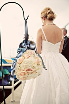 Extra large pomander balls for the ceremony site. lovely nautical wedding In Newport Beach. photo credit Bubba Loo Photography