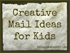 Writing letters is a great way for children to practise their writing skills and penmanship in a practical and fun way. Here are 5 fun ideas to send mail. Creative Mail Ideas, Creative Writing, Creative Cards, Pen Pal Letters, Pocket Letters, Snail Mail Pen Pals, Snail Mail Gifts, Mail Tag, Writing Skills