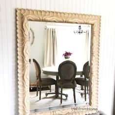 Solid Wood Shabby Chic Mirror Bathroom Extra Large Rustic Distressed Vanity French Ornate