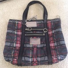 Authentic coach multicolor tote Like new. Used a couple of times. Coach Bags Totes