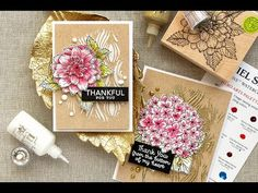 Hero Arts Blog - Video: 3D Decoupage Technique with Artistic Dahlia and Large Hydrangea stamps