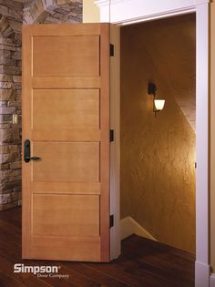 Simpson Interior Door 9284 Flat Panel Fire Door | Shown In Fir