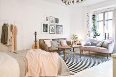 Accente delicate de culoare într-o garsonieră de 43 m² | Jurnal de design interior