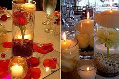 Nuevos 7 ideas sobre centros de mesa con velas flotantes                                                                                                                                                                                 Más