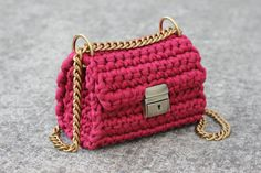 Crossbody Bag  Crochet Shoulder Bag  Urban Style by Sevirikamania