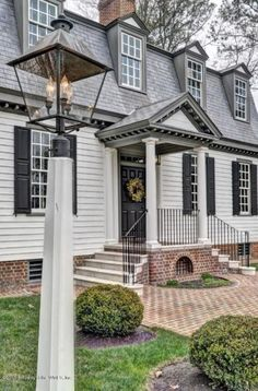 CURB APPEAL – A stunning single-family home located at 2989 Kitchums Close, Williamsburg Virginia, has 3 beds, 2 ½ baths, and approximately square feet. The property was built in - Love! Colonial House Exteriors, Colonial Cottage, Dutch Colonial, Colonial Williamsburg Va, Williamsburg Virginia, Modern Farmhouse Exterior, Colonial America, 6 Photos, Architecture Details