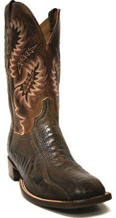Lucchese Men's Gonzalez Matte Ostrich Leg Cowboy Boots | SouthTexasTack.com