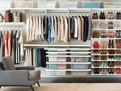 Master your master closet with elfa shelving