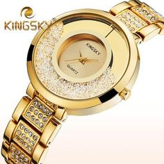 Luxury Gold Plated Rhinestone Dress Quartz Watch If you love fashion check us out. We're always adding new products for your closet!