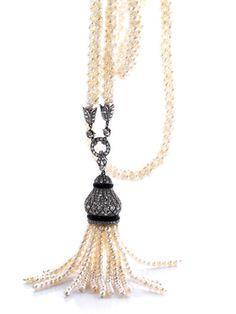 Antique Pearl Diamond Necklace