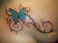Small Butterfly Tattoos | butterfly, tattoos, back, pictures, designs, women | Inspirational ...