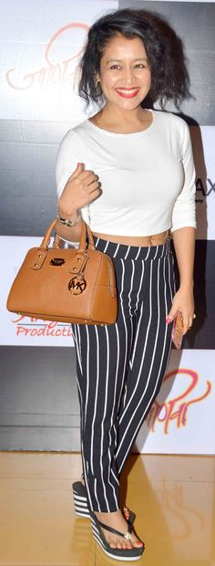 Neha Kakkar at the premiere of the film 'Janiva'. Girls Designer Dresses, Girls Formal Dresses, Wedding Dresses For Girls, Girls Party Dress, Party Wear Dresses, Birthday Dresses, Long Dresses, Bollywood Outfits, Bollywood Fashion