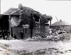 Another view of the bomb damage to the fire station on Sea Road. One fireman was in the basement when the bomb exploded but he was unhurt. Sunderland, Back In Time, Newcastle, Old Photos, Past, England, Sea, History, House Styles