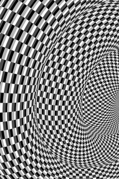 Espacios Anidados III / Nested Spaces III by evilskills on DeviantArt Rhythm Art, Optical Illusion Quilts, Greek Paintings, Cool Optical Illusions, Illusion Art, Black And White Abstract, Op Art, Fractal Art, Line Drawing