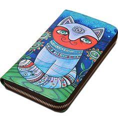 Yahoho Women's Cute Pattern Large Genuine Leather Zipper Around Wallet Coin Phone Checkbook Card Holder (Gift Box) Cat Blue Purple Yahoho http://www.amazon.co.uk/dp/B00ZTTHUP0/ref=cm_sw_r_pi_dp_cy9Iwb1RE340Q