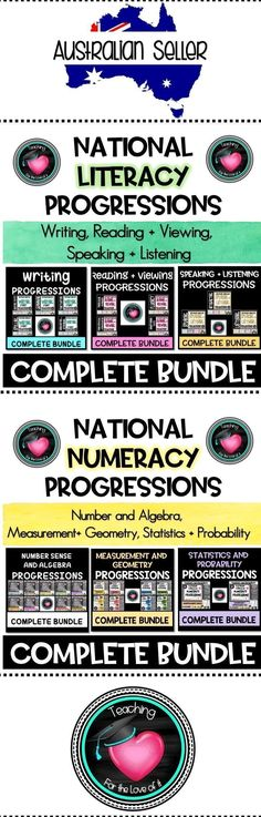 Less than Half price!!!! SAVE SAVE SAVE Complete Bundles of Literacy and Numeracy Progressions Posters and Checklists. National Curriculum Australia. All Strands available individually or bundled!