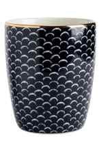 Porcelain mug - Dark blue/White patterned - Home All | H&M GB 2