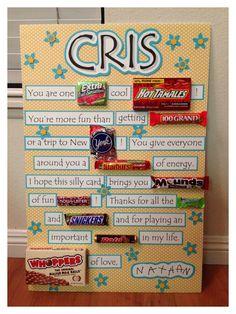 15 Super Ideas birthday gifts for boyfriend cute ideas candy bars Birthday Candy Posters, Candy Birthday Cards, Birthday Card Sayings, Birthday Quotes, Candy Poster Board, Candy Bar Posters, Candy Board, Poster Boards, Homemade Birthday Gifts