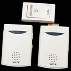 Wireless Remote Control Door Bell and 2 Receivers with Digital Tones Chime Flash Light Ring for Home Office  $17.16