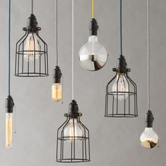 Honest in its design, our Utility Pendant Cage is also humble and versatile in its form and function. Suitable for any room or use -- above a workbench, at the bedside or even in a commercial space -- the pendant may be grouped in a cluster or line or simply displayed alone for an ambient glow. The threaded socket is made of black phenolic resin and features a brass ball chain switch for the nostalgic sound of a pull-chain click during operation. Inspired by the tracer-style cord patterns…