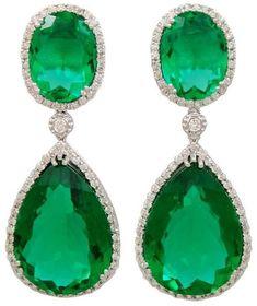 Beautiful! Emerald and Diamond Earrings