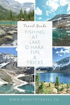 Travel Guide: The Complete Fishing Guide to Lake O`Hara, British Columbia, Canada. One of the most beautiful lakes near Banff in the Canadian rockies! Fishing Tackle Shop, Fly Fishing, Hiking Guide, Travel Guide, Travel Packing, Canada Travel, Travel Usa, Manchester Travel, Canadian Rockies