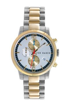 Men's Two-Tone Stainless Steel Quartz Watch by Ted Baker London on @nordstrom_rack