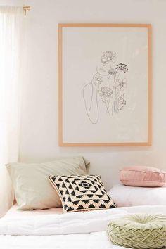 Nadja Art Woman With Flowers III Art Print