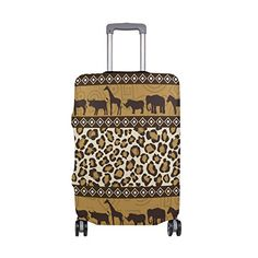 Cute 3D Ink Painting Pattern Luggage Protector Travel Luggage Cover Trolley Case Protective Cover Fits 18-32 Inch