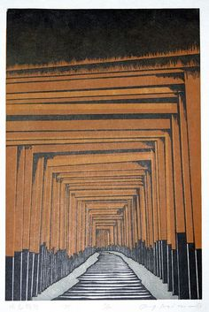 sumi-no-neko:    森村 玲 Morimura Ray (1948 ~ )    Fushimi Inari, 1995     Dear Students,Here is another example of an image made of black and white and one single other color.We may wander down toward this way of working this week.SIncerely,Prof Setie