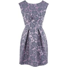 Closet Damask V-Back Skater Dress, Purple ($80) ❤ liked on Polyvore featuring dresses, floral print maxi dress, floral midi dress, purple maxi dress, maxi dresses and cotton maxi dress