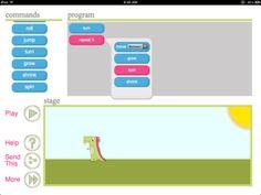 Met de daisy the dino app kun je in 5 stappen op heel eenvoudige manier kennis maken met basisbeginselen van het programmeren. De app is in het engels maar geen probleem voor groep 5/6 van de basisschool.