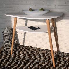 50x50 Wohnzimmer Tisch in Schwarz & Eiche Sibiuta
