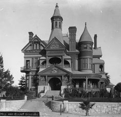 Circa 1890 View Of The Bradbury Mansion On Corner Hill Street And Court In Old Downtown Los Angeles
