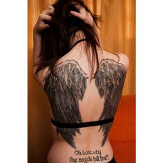 Angel Wing Tattoos Angel Tattoos Design Angel Small - Free Download... ❤ liked on Polyvore featuring accessories, body art, tattoos and piercings