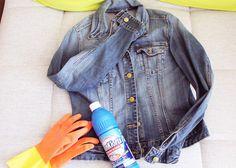 Jeans bleaching #diy #bleaching #denim // The FASHION ID Blog