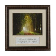 Put God in the Center Framed Art Print | Kirklands