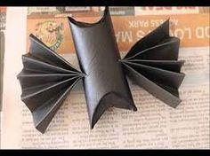 Resultado de imagem para rolinhos de papel higienico para fazer de morcego para festa de halloween