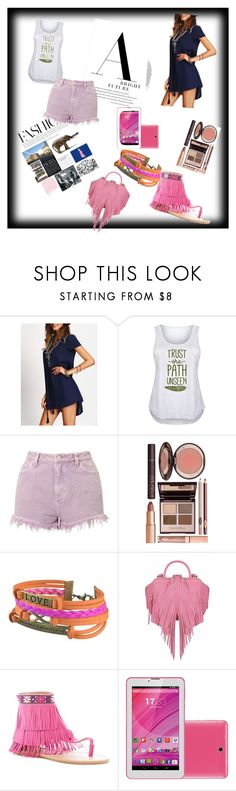 """""""Untitled #25"""" by zaahraazz ❤ liked on Polyvore featuring LC Trendz, Miss Selfridge, Charlotte Tilbury, Zodaca, The Volon, Rasolli and plus size clothing"""