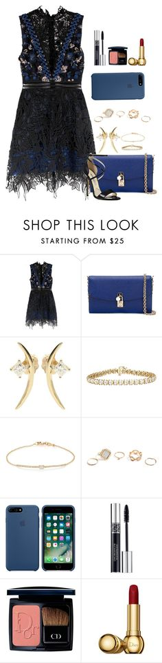 """""""Untitled #2471"""" by moxfordf on Polyvore featuring self-portrait, Dolce&Gabbana, Wasson Fine, Tate, GUESS and Christian Dior"""