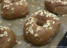 Vollkorn-Bagels mit Haferflocken - Katha-kocht!