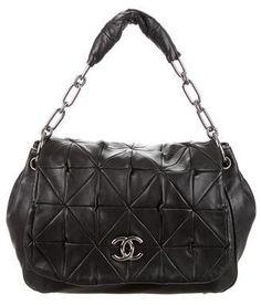 016b95246866a8 Chanel Large Origami Bag Origami Bag, Grey Stripes, Handbag Accessories,  Shoulder Strap,